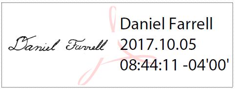 Daniel Farrell Digital Signature