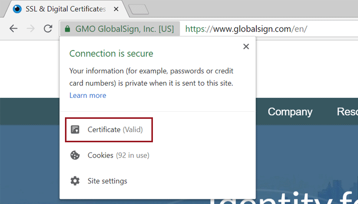 How to view SSL certificate details in Chrome 68