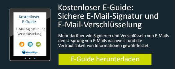 Sichere E-Mail Signatur und E-Mail-Verschlüsselung