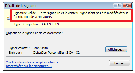 Exemple document word signé