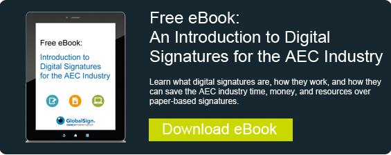 Digital Signatures for AEC
