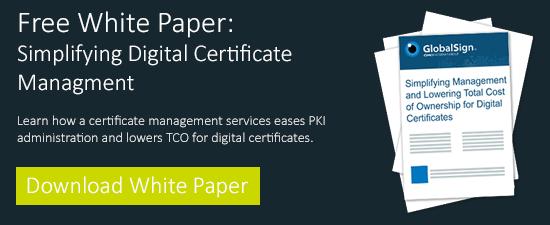 simplifying digital cert mgmt