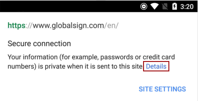 SSL Certificate in Chrome