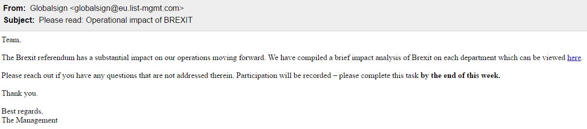 phishing simulation - topical news test