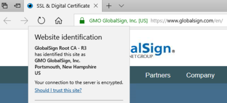 Edge 16 Certificate Information