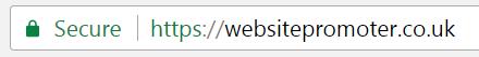 website promoter EV certificate