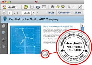 Example digitally signed and certified PDF
