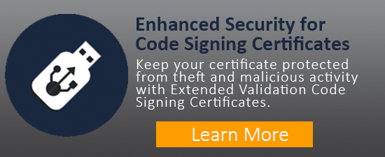 Extended Validation Code Signing Certificates