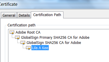 CDS Certificate Path