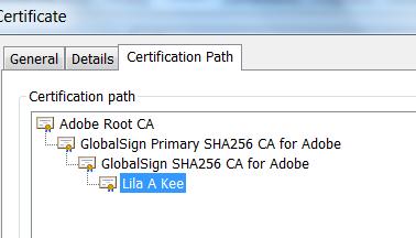 CDS Certificate Path