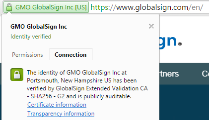 GlobalSign SSL ID Verified