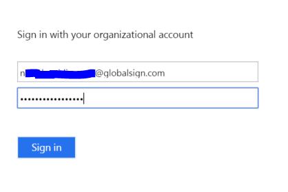 Client authentication screenshot