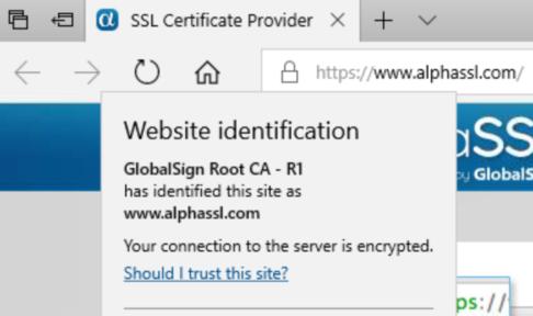 DV Certificate in Edge