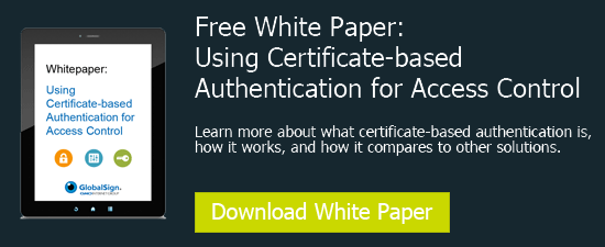 Cert Based Authentication for Access Control