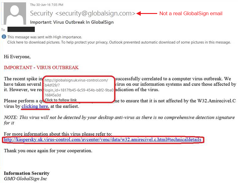 how to spot a phishing link in an email