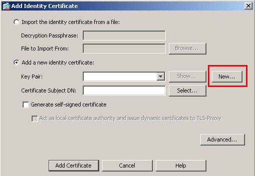 Generate a CSR in Cisco ASA 5500 SSL VPN/Firewall