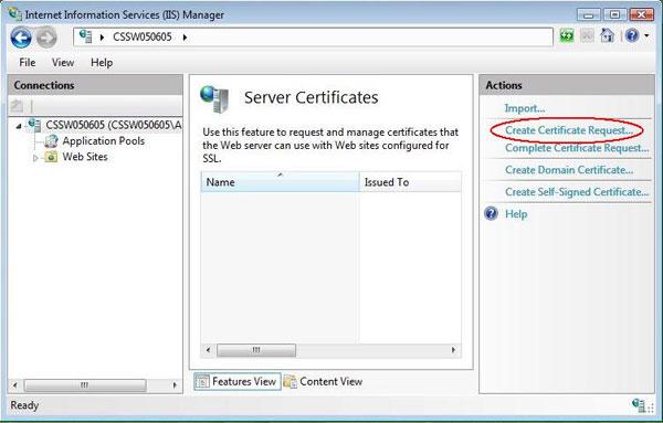 Generate a Certificate Signing Request (CSR) in Internet