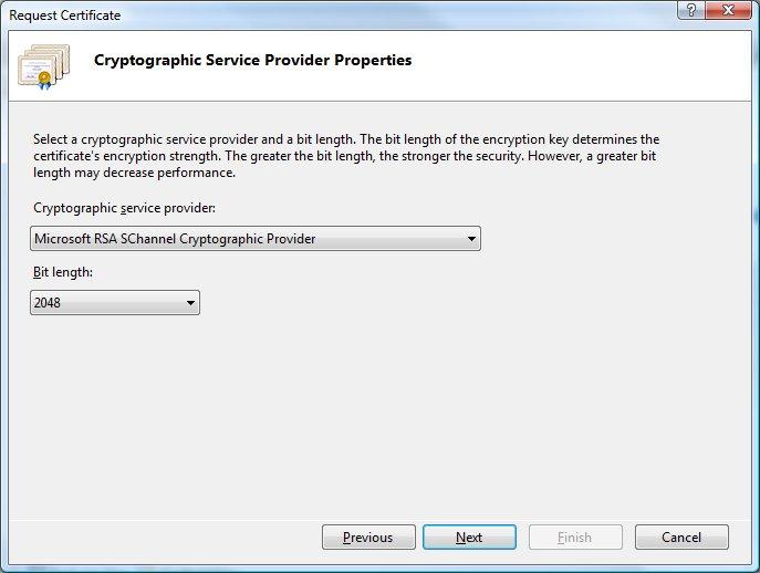 Generate A Certificate Signing Request Csr In Internet Information